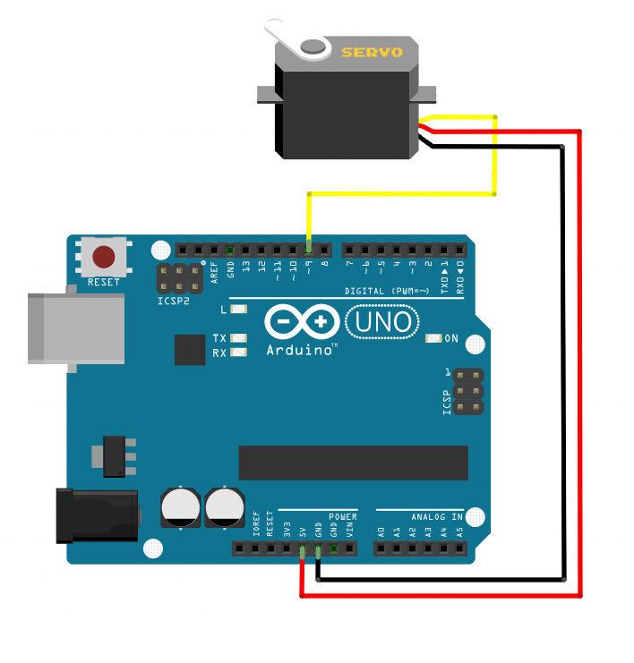 Connecting a Servo Motor to An Arduino | Microcontroller ... on