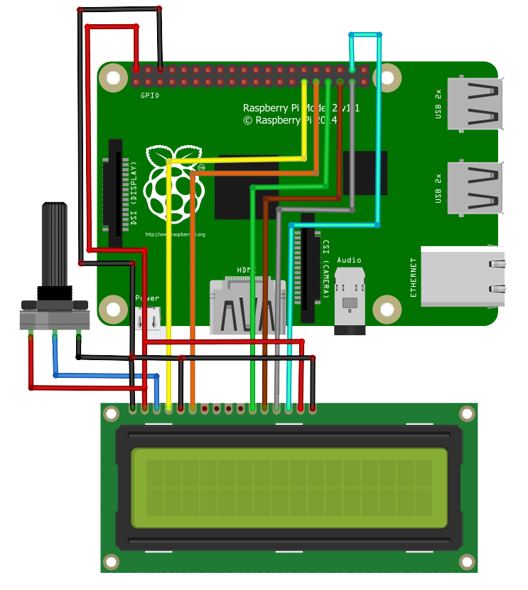 How to use 16x2 LCD with Raspberry Pi | Microcontroller