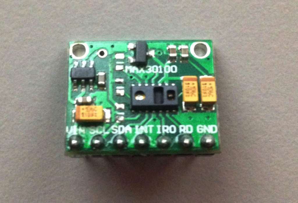 MAX30100 with resistors removed