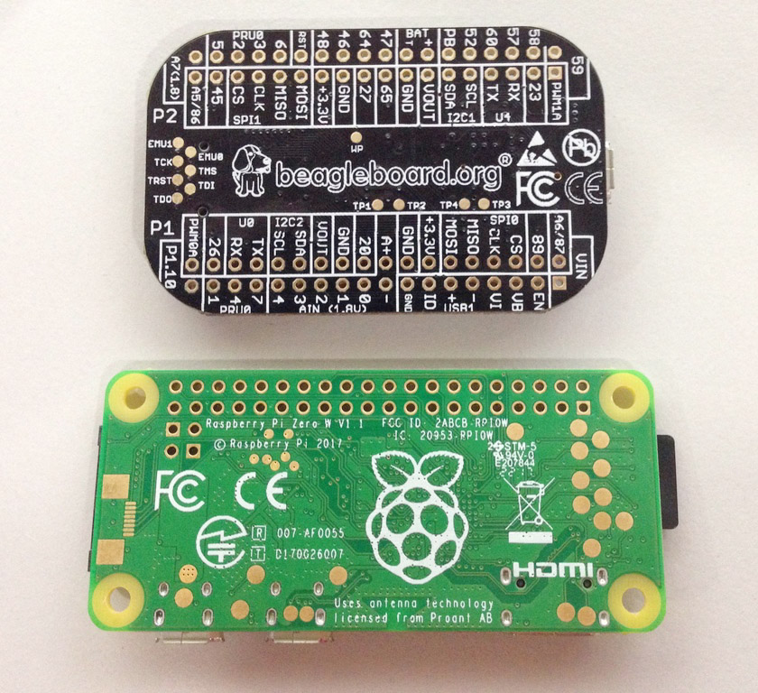 Raspberry Pi Zero PocketBeagle back