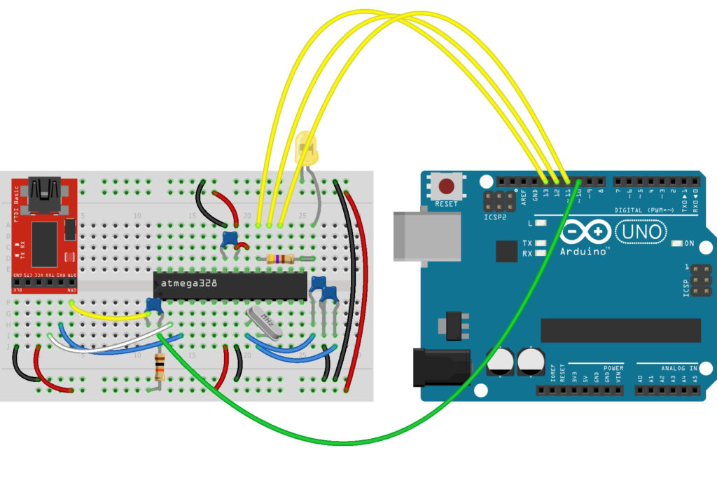 Arduino Fritzing diagram for Bootloader