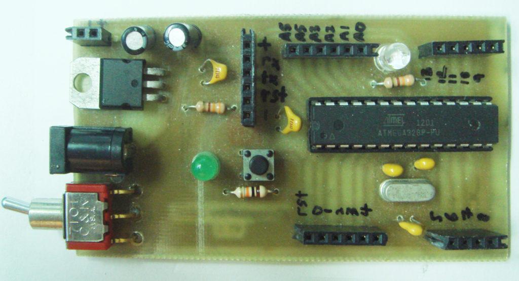 Arduino on DIY PCB