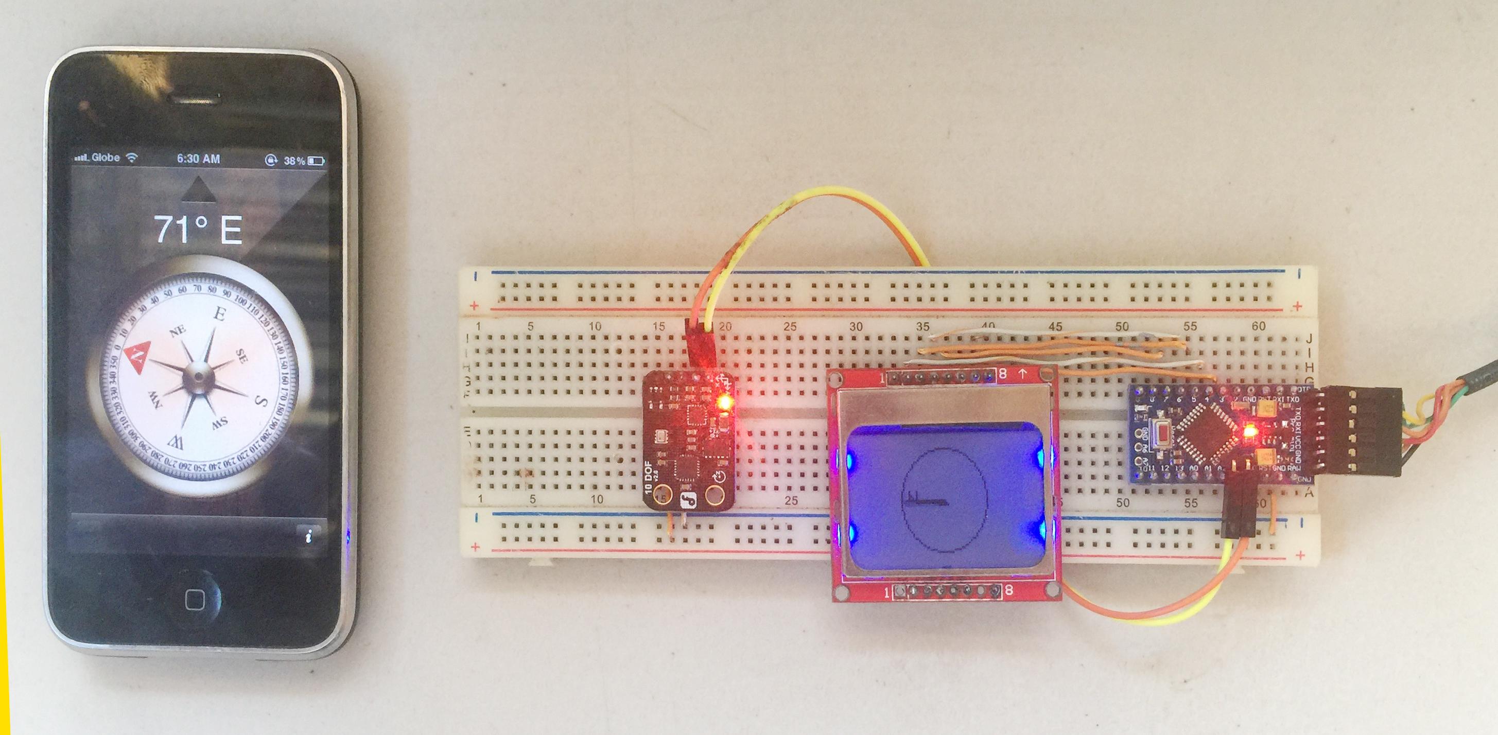 Arduino Compass using HMC5883L Magnetometer