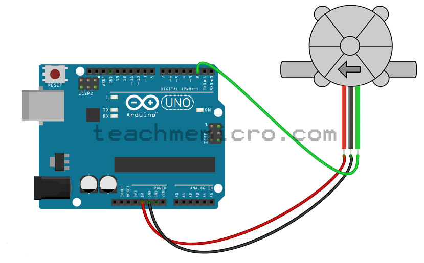 Arduino water flow meter fritzing diagram