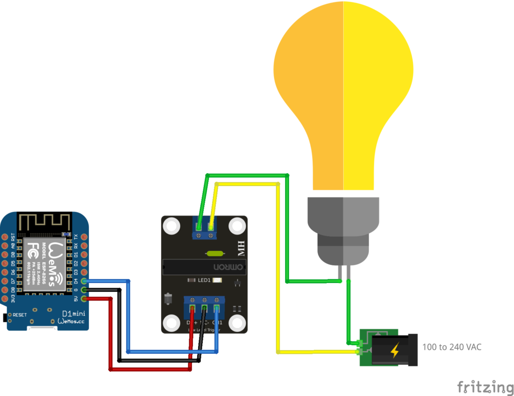 Solid state relay with ESP8266 WiFi